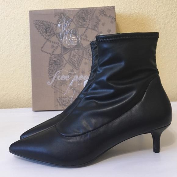 460383fdcfb Free People Marilyn Kitten Heel Pointed Boot